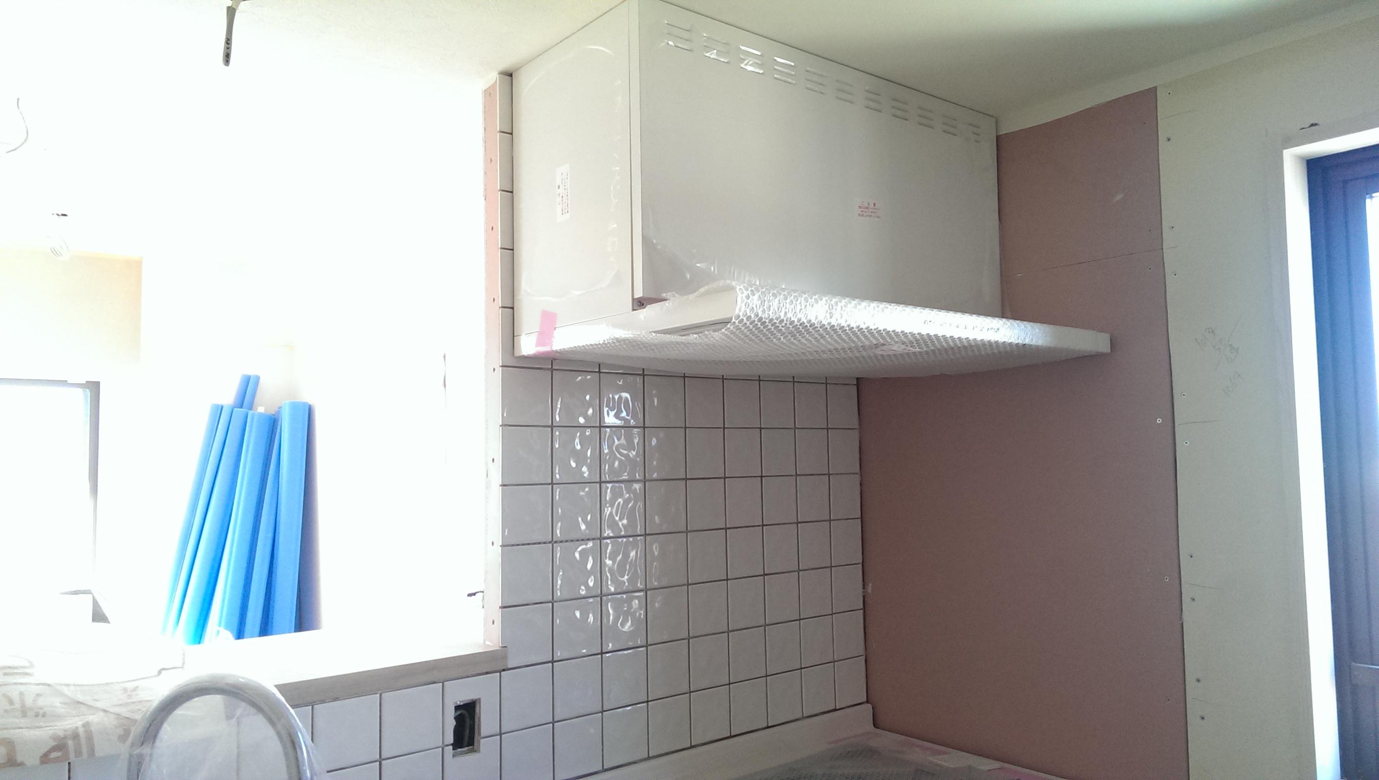 キッチンタイル施工