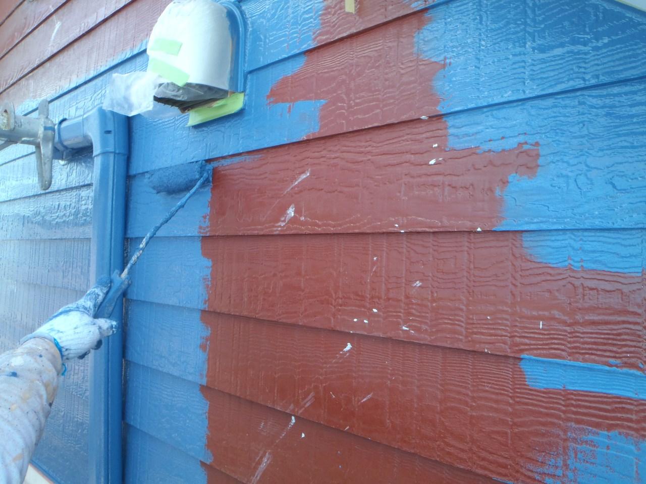 外壁塗装中!