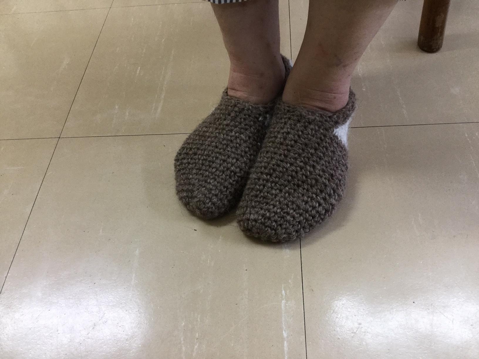 フェロー産羊毛上履き