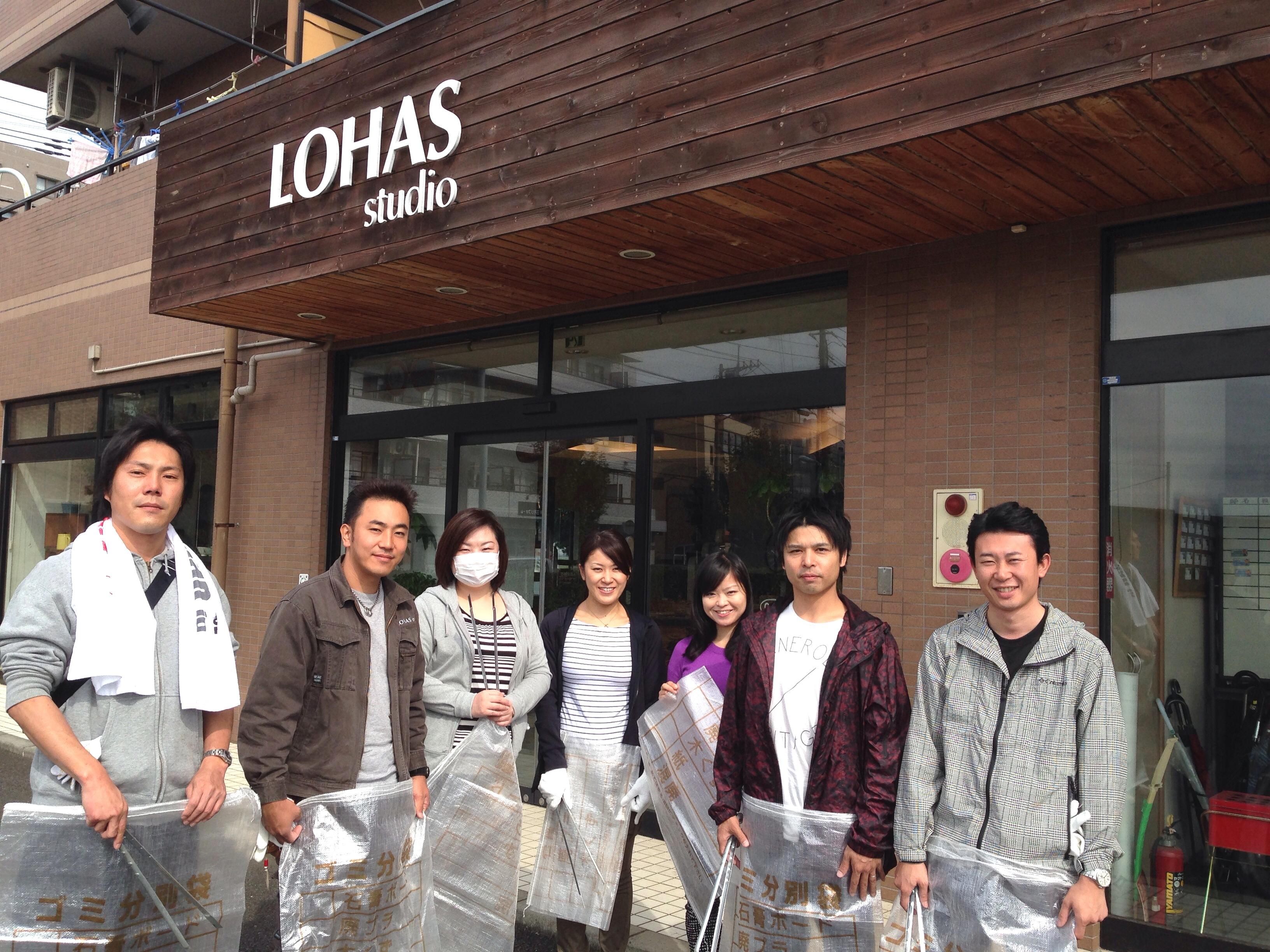 東川清掃活動。