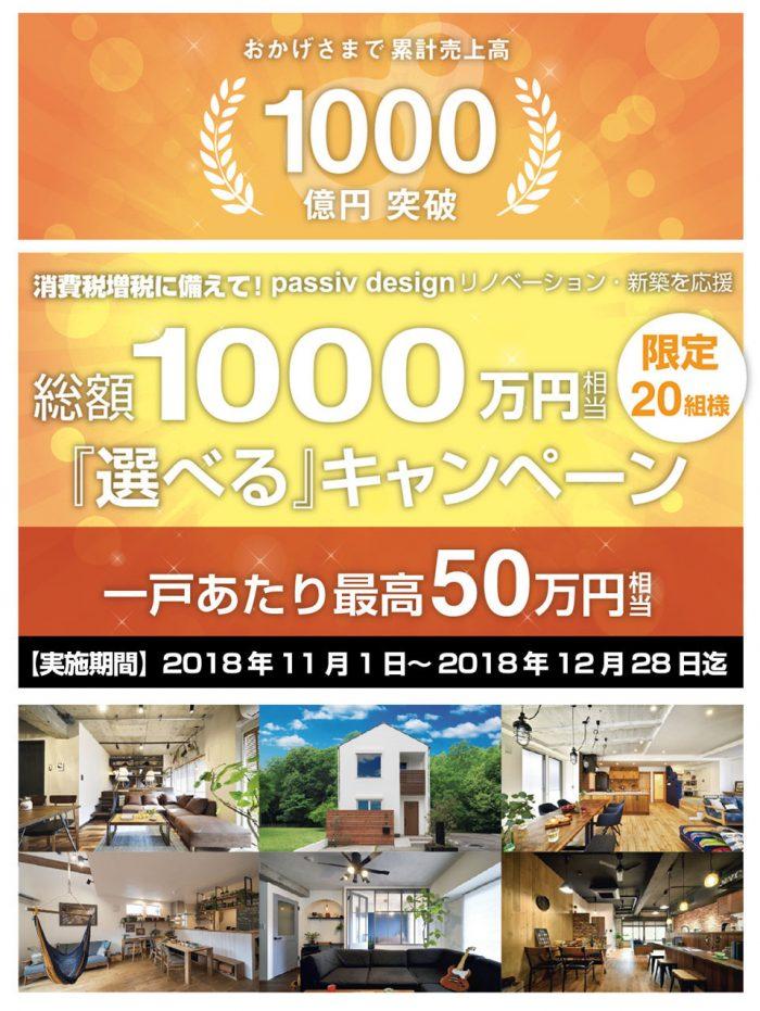 総額1000万円キャンペーン