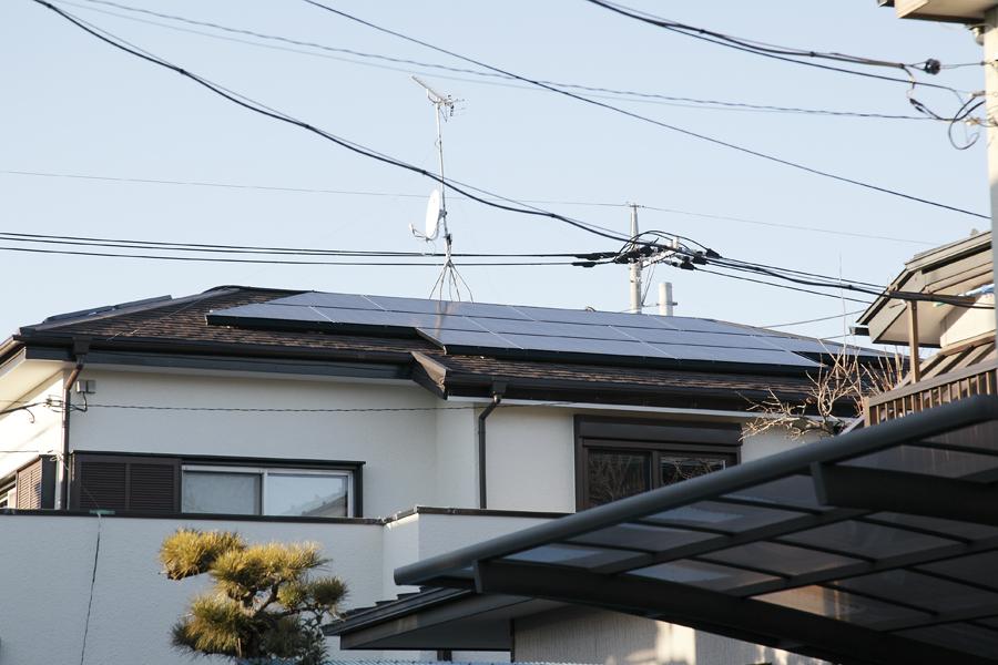 太陽光発電の様子