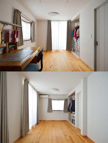 2階洋室の様子
