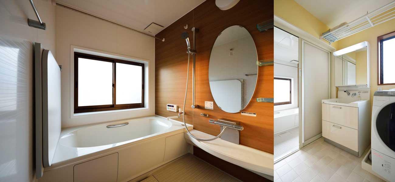 浴室・洗面室の様子