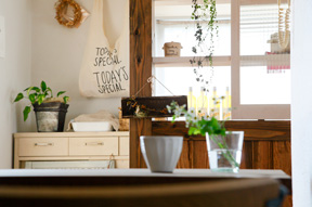 小さなカフェのようなインテリア(一戸建て)