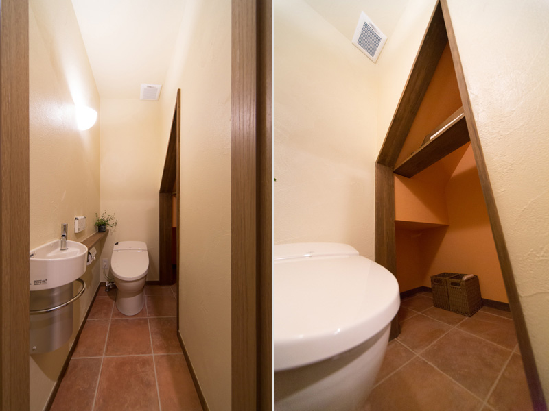 収納庫のあるトイレの様子