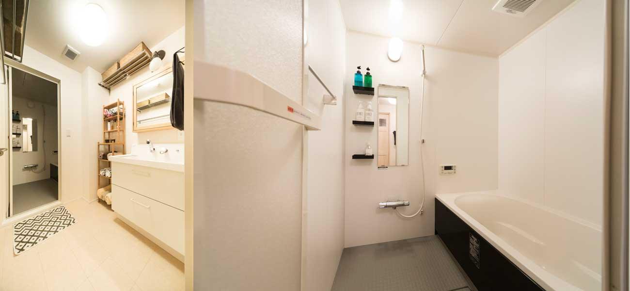清潔感のある浴室の様子