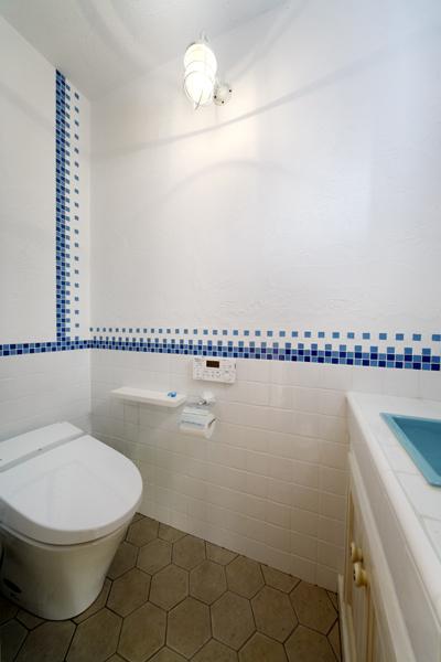 南欧風デザインのトイレの様子