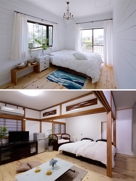 個性的な2つの個室の様子