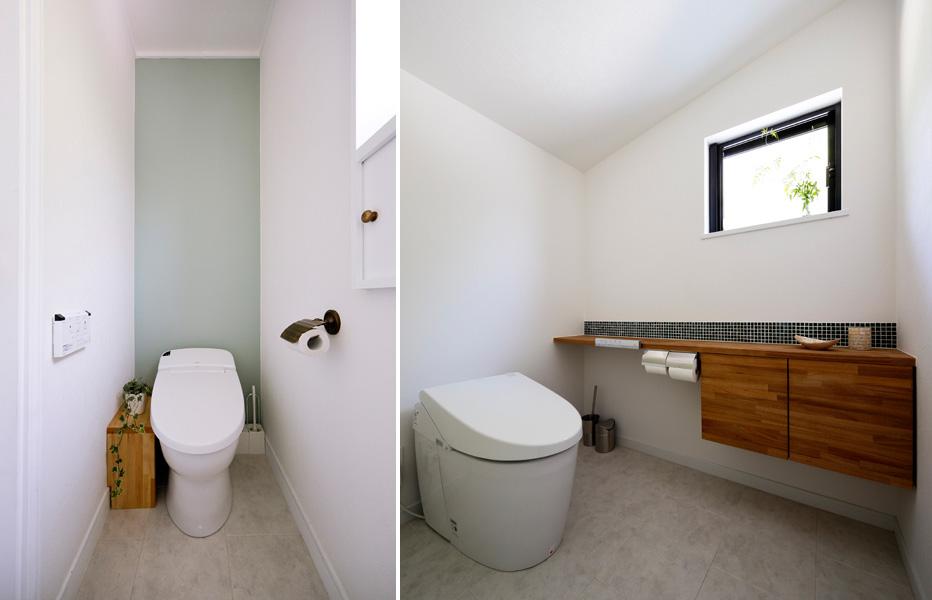 白トーンでまとめたトイレの様子