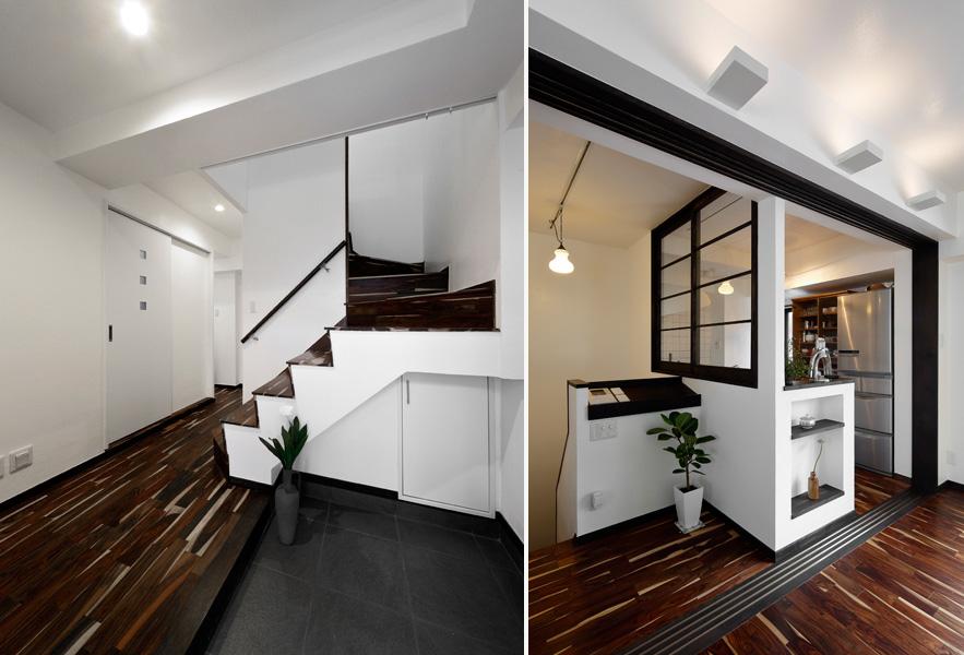 1階・玄関と2階・階段ホールの様子