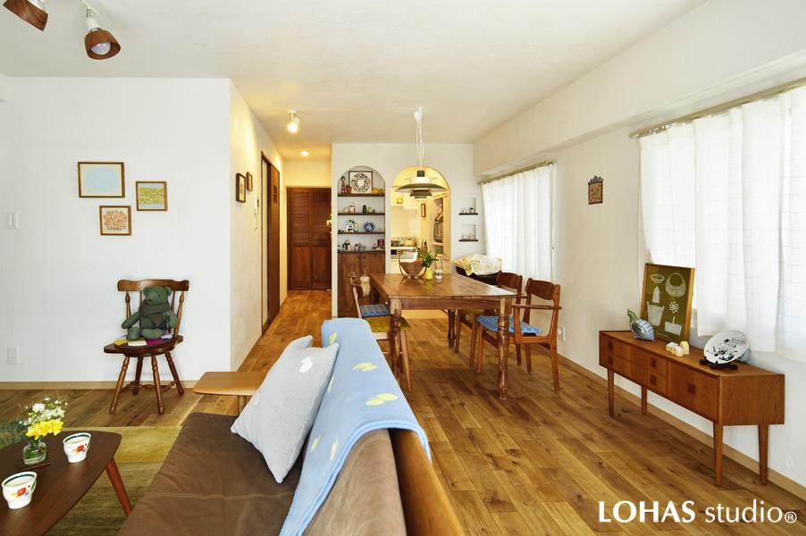 近居で叶える、憧れの雑貨屋さんみたいな家。広くなったスペースでホームパーティ!(マンション)