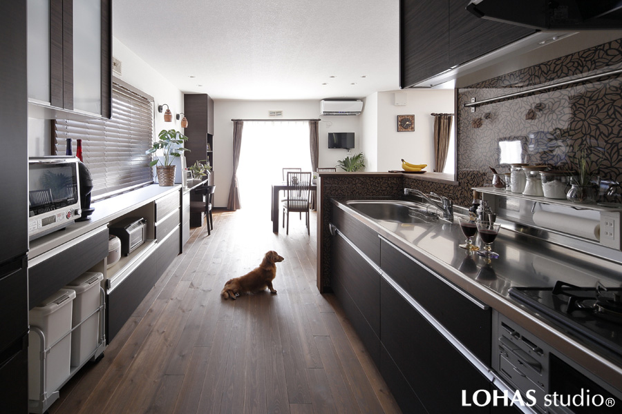 家事効率性の高いキッチンの様子