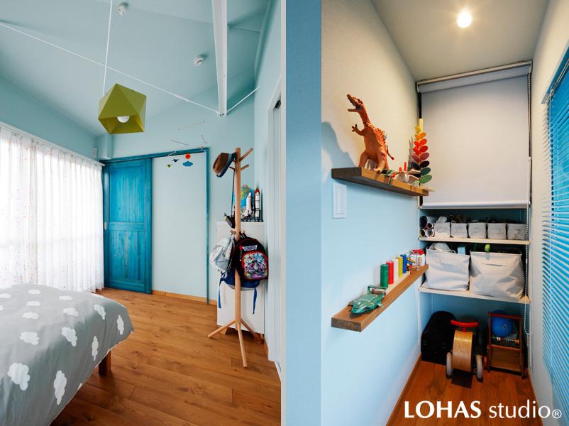 将来は個室化もできる子ども室の様子