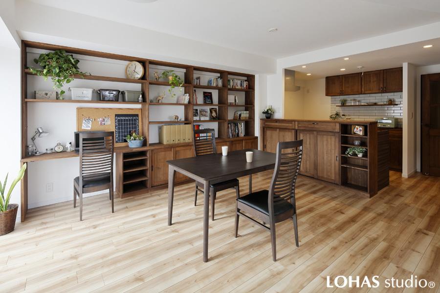 家具の造り付けだけ!お部屋の雰囲気はこれだけ変わる!(マンション)