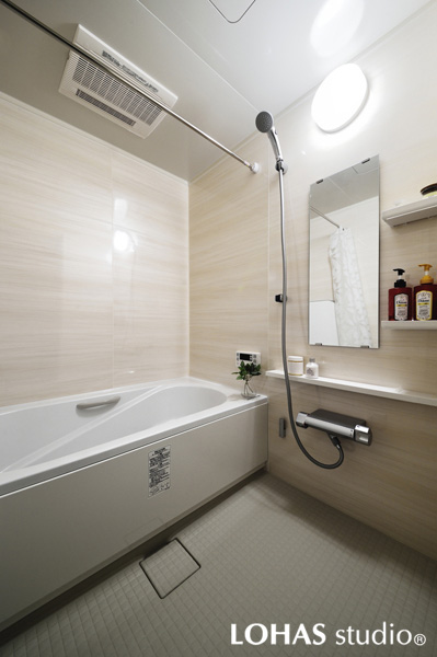 ひとまわり大きくなった新しい浴室の様子