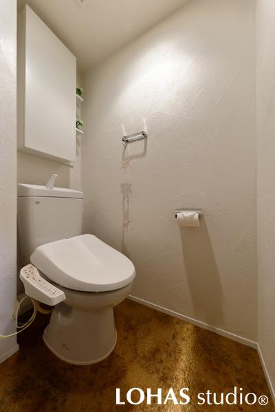 最低限のシンプルさが潔さを感じさせるトイレの様子