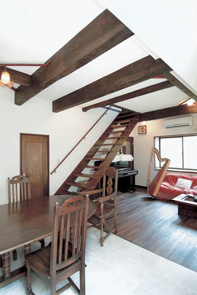 オープン階段の様子