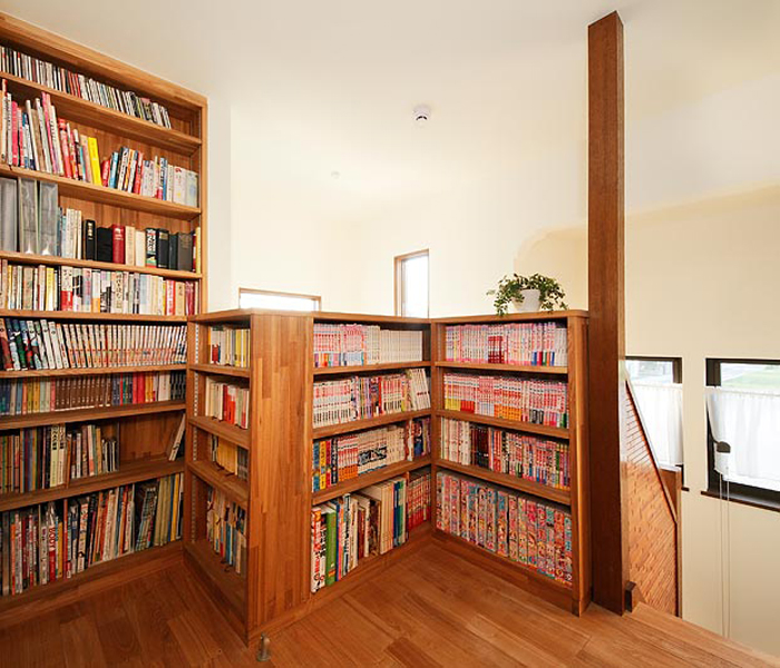 小さな図書コーナーの様子。