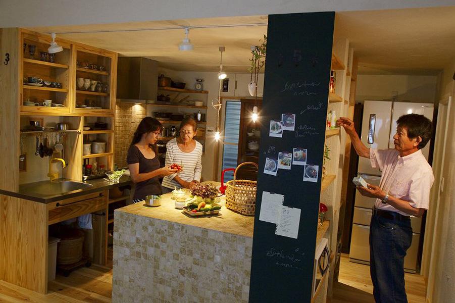 回遊型のキッチン