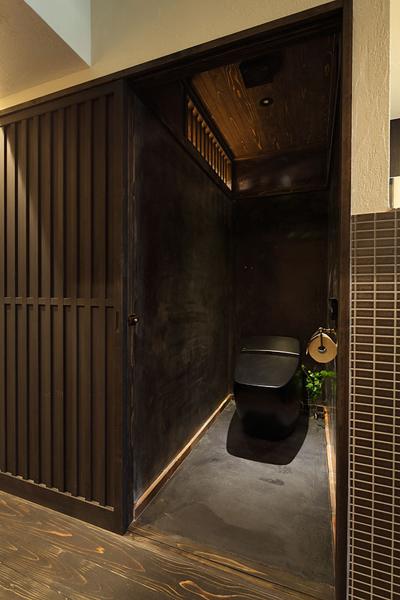 和の趣が美しいトイレ。
