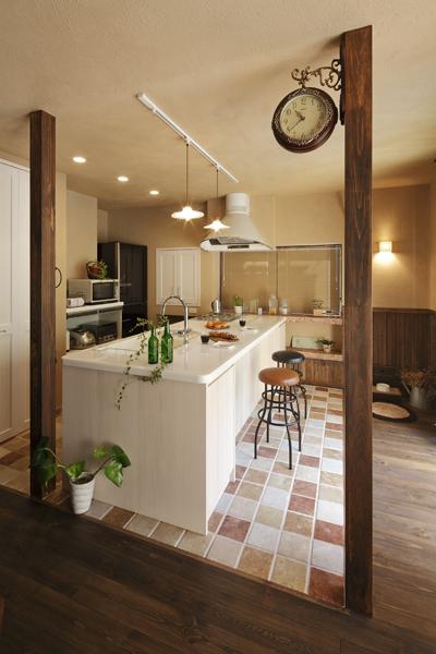 キッチンと愛犬コーナー