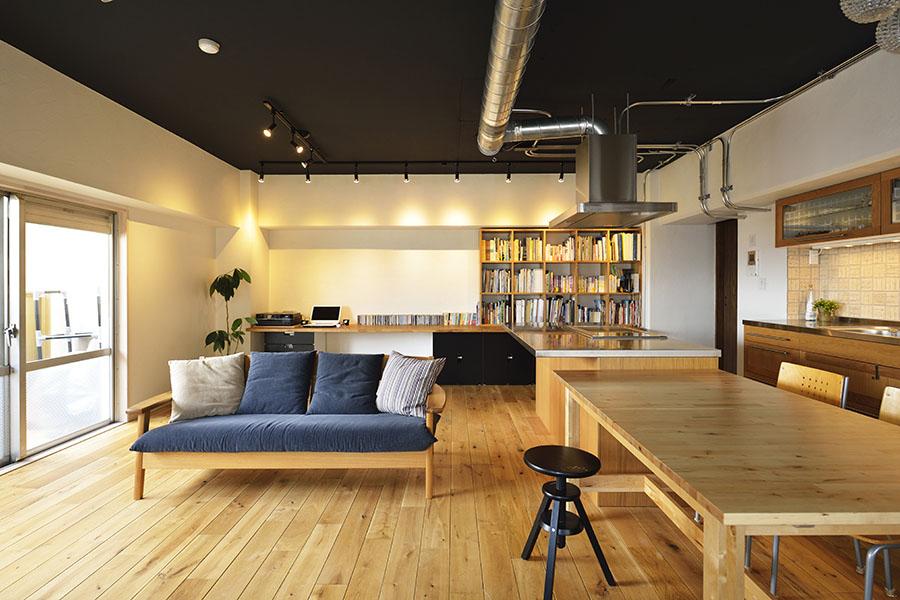 プライベートとデザインを大切にする二世帯の空間に(マンション・二世帯)